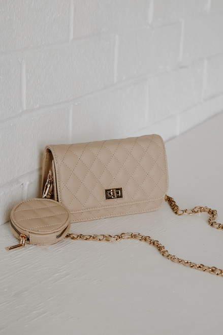 Ivory - Quilted Crossbody Bag from Dress Up