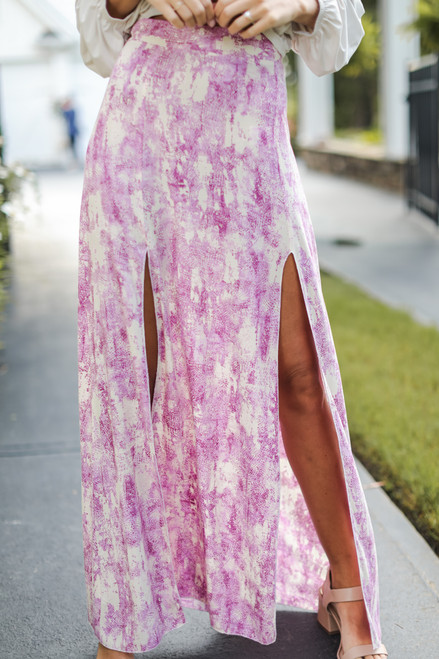 Pink - Maxi Skirt from Dress Up