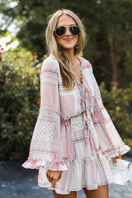 Ivory - Floral Blouse from Dress Up