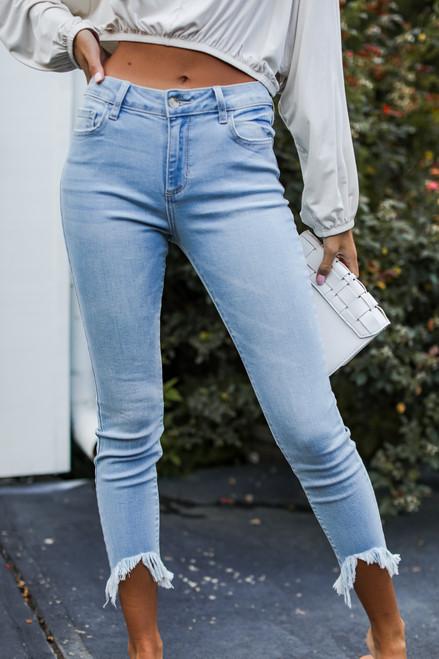 Light Wash - High-Rise Skinny Jeans
