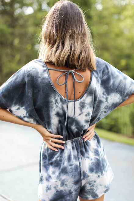 Charcoal - Tie-Dye Romper from Dress Up