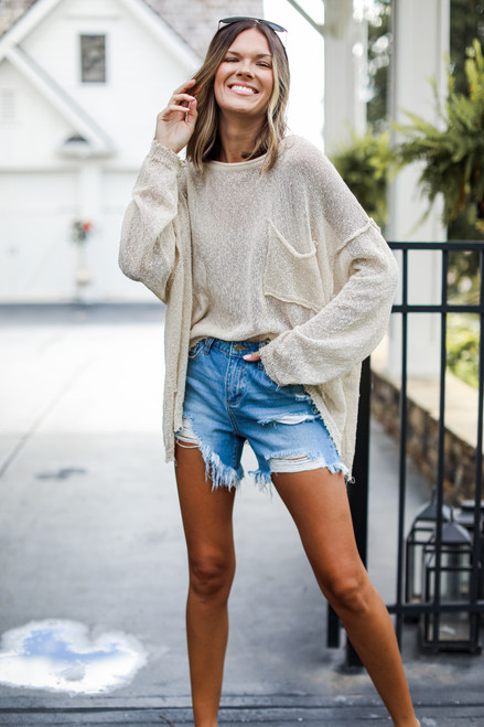Ivory - Oversized Knit Top from Dress Up