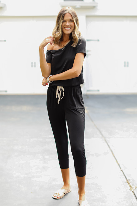 Black - Ribbed Jumpsuit from Dress Up
