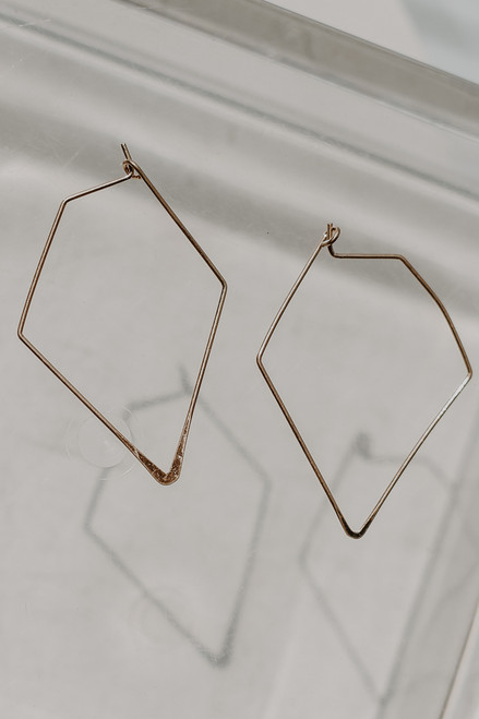 Gold - Geometric Earrings from Dress Up