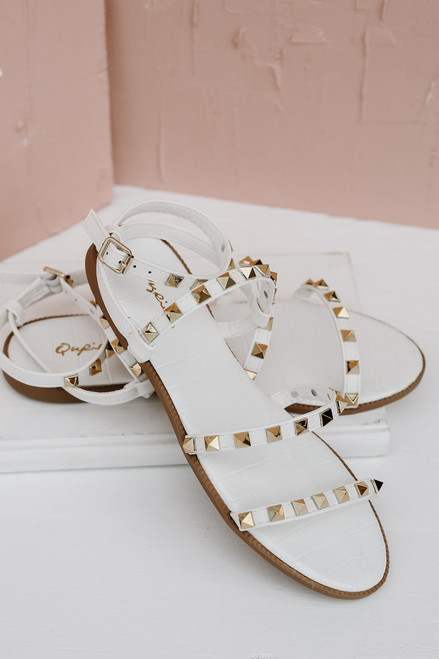 White - Studded Sandals from Dress Up