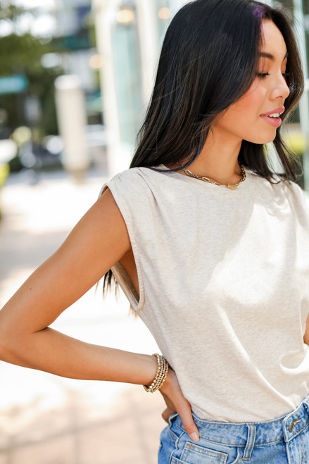 Taupe - Muscle Bodysuit from Dress Up