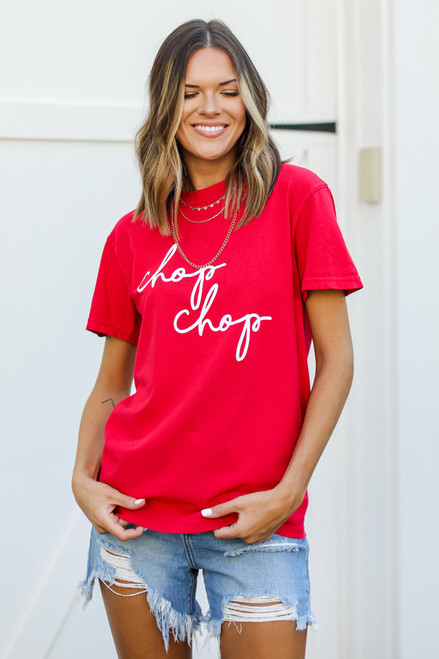 Red - Chop Chop Graphic Tee