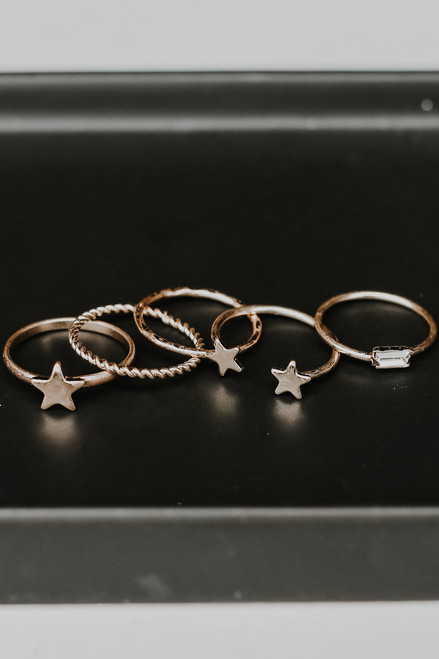Gold - Star Ring Set from Dress Up