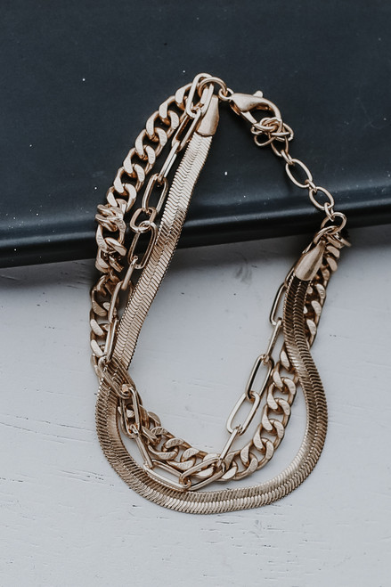 Gold - Layered Bracelet from Dress Up