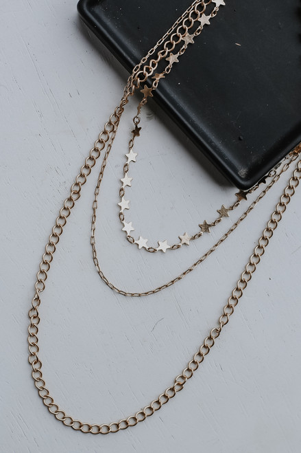 Gold - Star Layered Necklace from Dress Up
