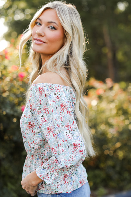 Mint - Floral Blouse from Dress Up