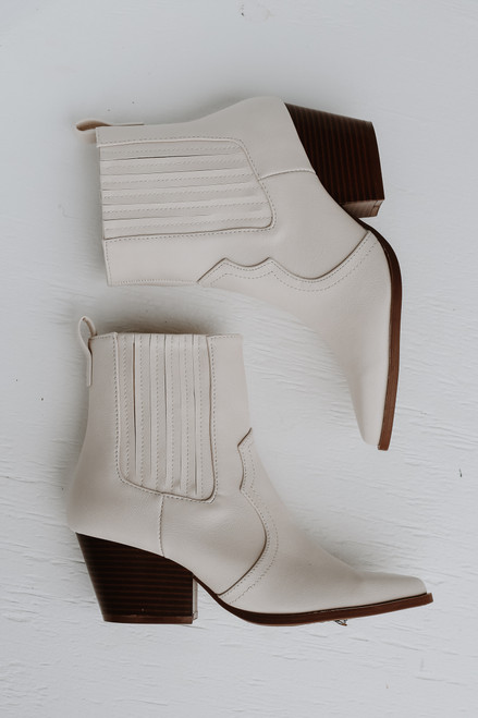 Ivory - Pointed Toe Booties