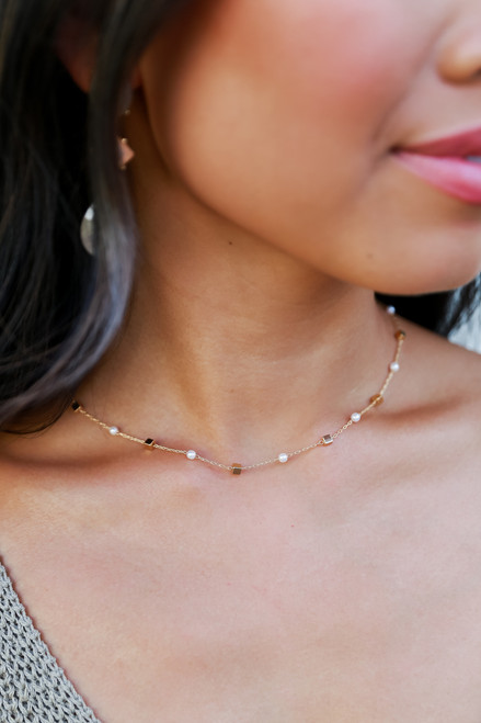 Gold - Pearl Necklace