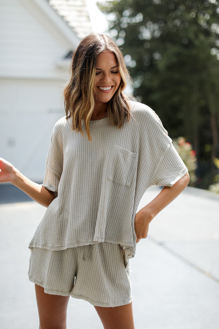 Sage - Waffle Knit Top from Dress Up