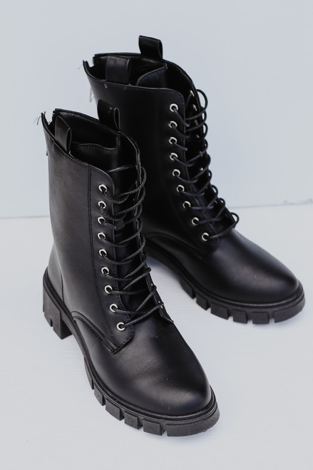 Black - Combat Boots from Dress Up