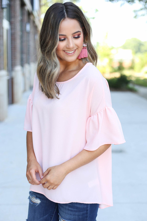 Blush - Bell Sleeve Blouse Side View
