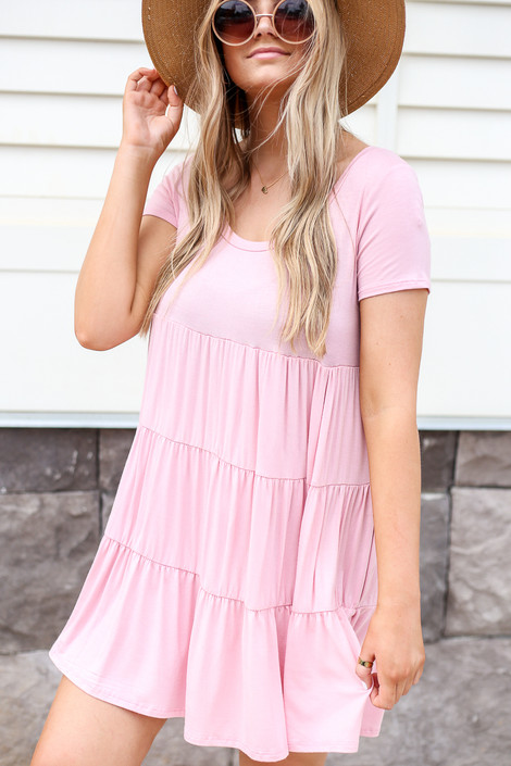 Blush - Tiered T-Shirt Dress