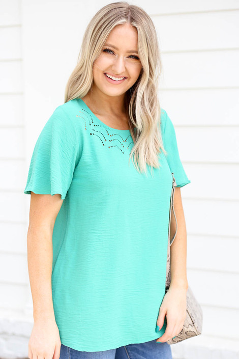 Mint - Laser Cut Out Top