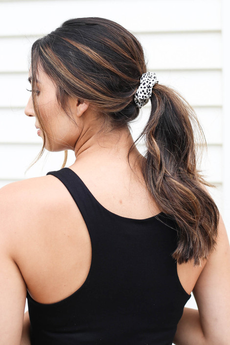 Ivory - Spotted Scrunchie