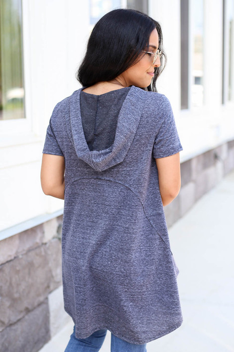 Charcoal - Hooded Top Back View