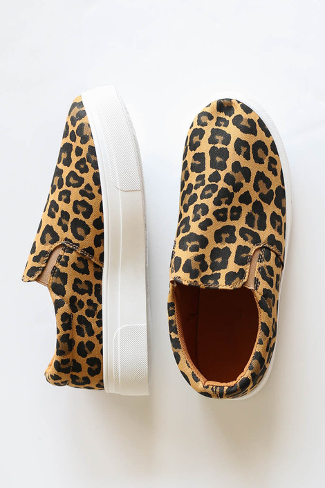 Leopard - Platform Slip on Sneakers Flat Lay