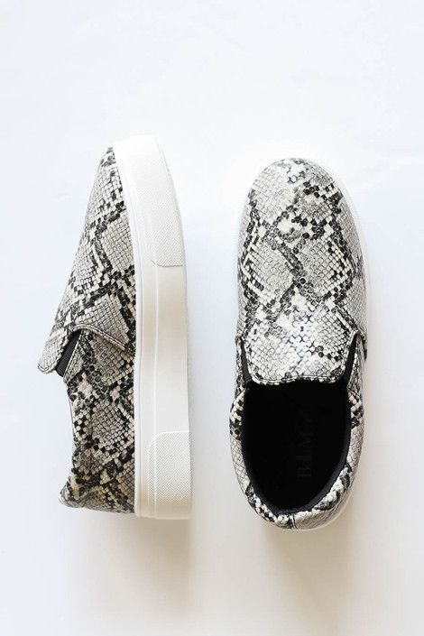 Snake - Snakeskin Platform Slip On Sneakers Flat Lay