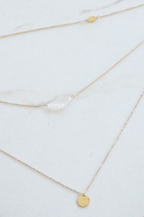 Clear - Layered Necklace Flat Lay