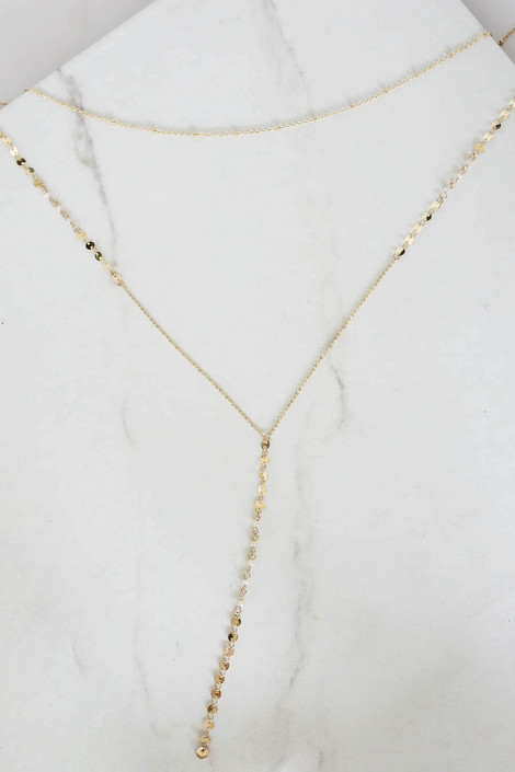 Gold - Drop Necklace