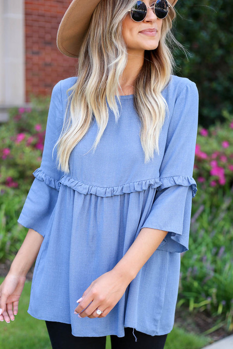 Denim - Ruffled Tunic