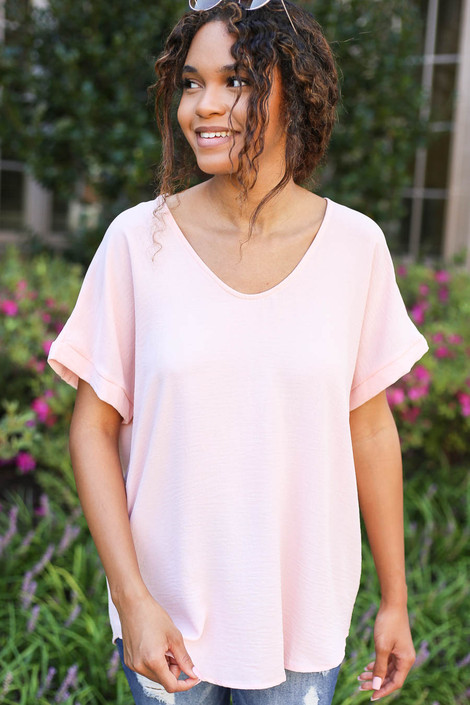 Blush - Scoop Neck Blouse