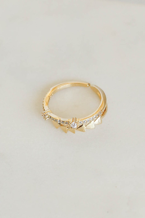 Gold - Studded Ring Flat Lay