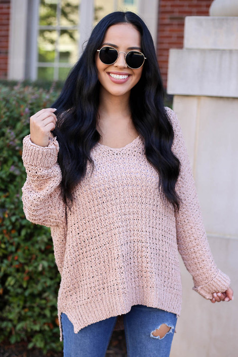 Blush - Oversized Knit Sweater