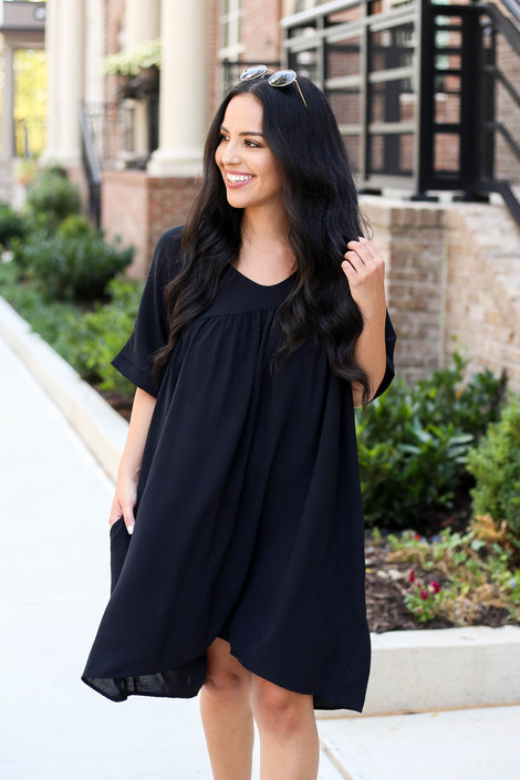 Black - Babydoll Dress
