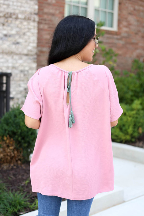 Mauve - Cold Shoulder Top Back View