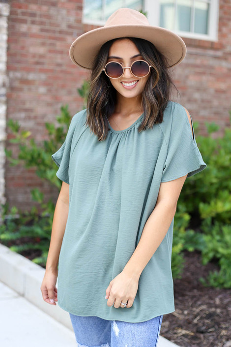 Bria Cold Shoulder Blouse