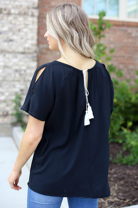 White - Cold Shoulder Top