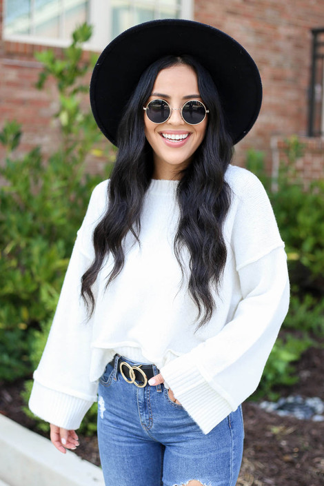 Ivory - Wide Sleeve Sweater