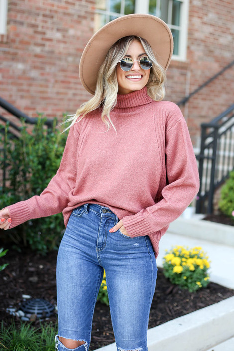 Blush - Turtleneck Sweater