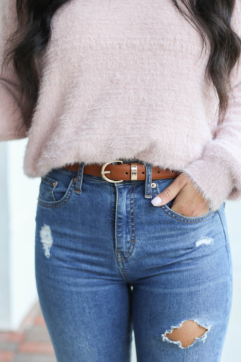 Brown - Skinny Belt