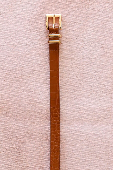 camel crocodile belt