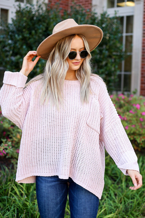 Blush - Oversized Chenille Sweater
