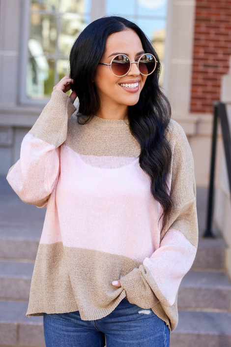 Taupe - and Blush Lightweight Color Block