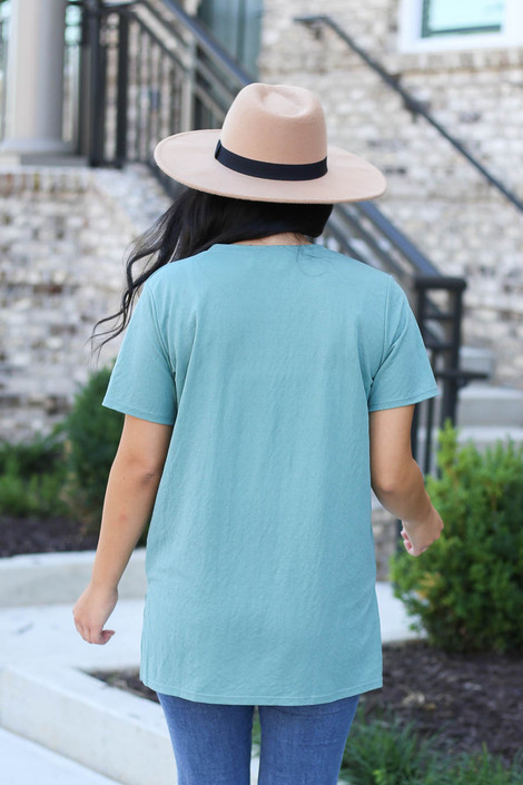 Mint - Crew Neck Basic Tee Back View