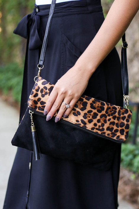 Leopard - and Black clutch