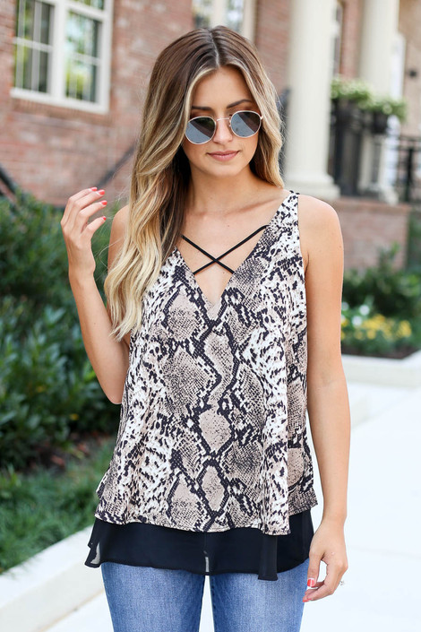 Snake - Criss-Cross Strappy Tank