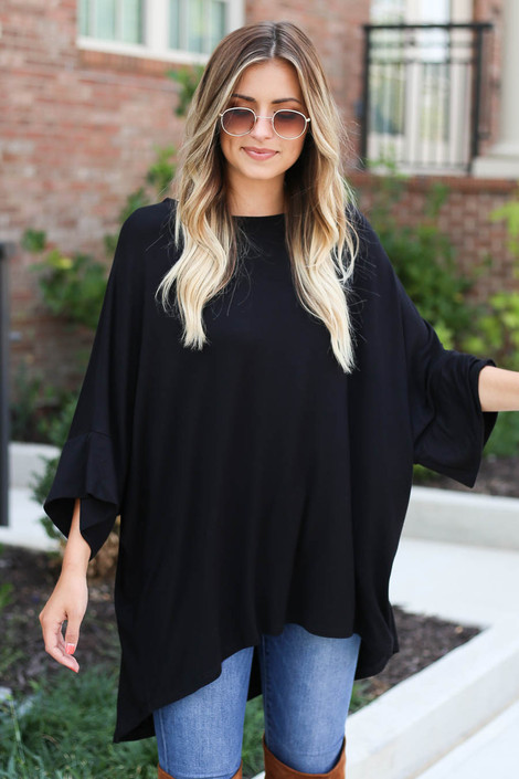 Black - Oversized Tunic Tee