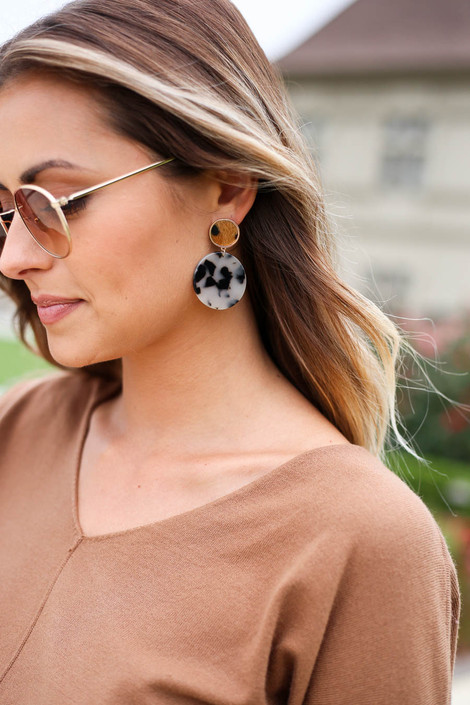 Paige Leopard Acrylic Statement Earrings