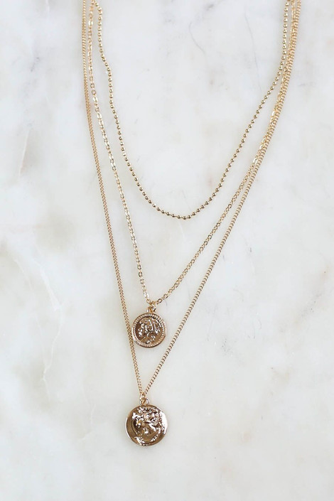 Dakota Coin Layered Necklace