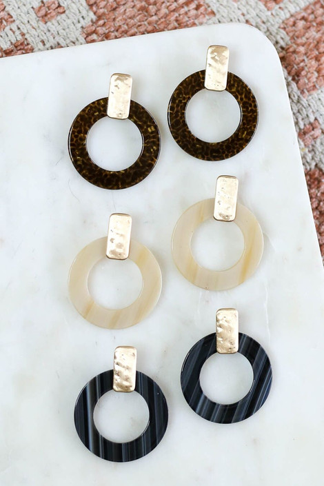 Ivory - Statement Acrylic Earrings