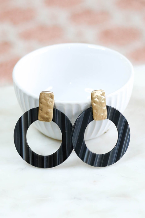 Black - Statement Acrylic Earrings